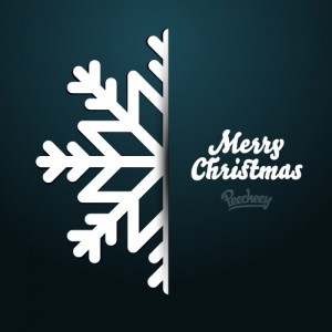 Christmas greeting card blue