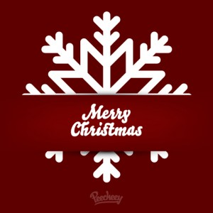 Christmas greeting card red
