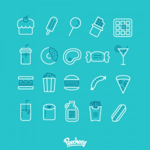 food_line_icons
