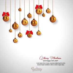 Christmas card with christmas balls