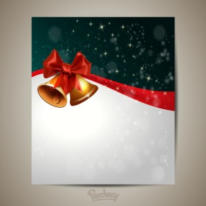 Christmas greeting card with christmas bells