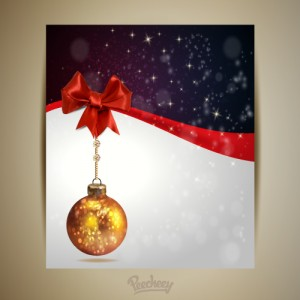 Christmas greeting card with christmas ball2