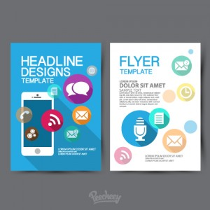 Template design flyer