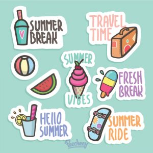 Summer stickers 1