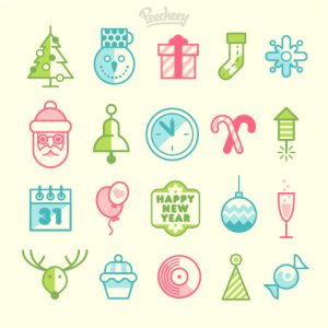 New_Year_icons
