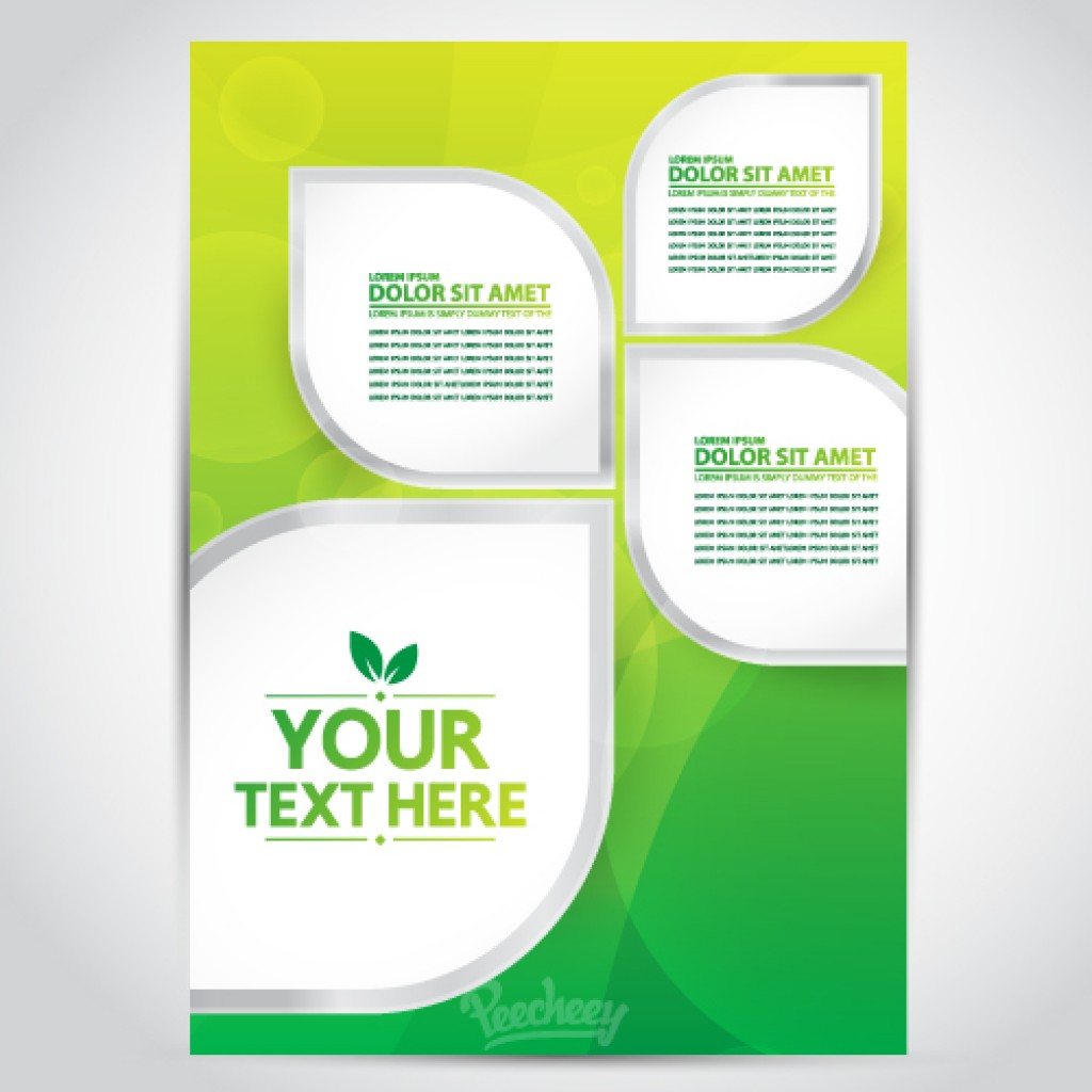 yellow brochure free vector