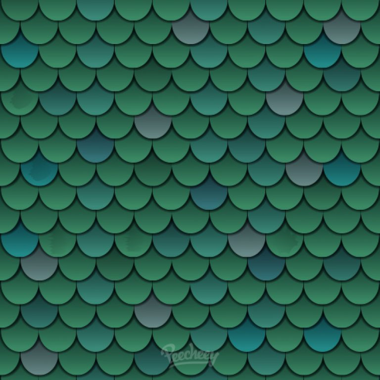 Fish scale seamless pattern background | Peecheey