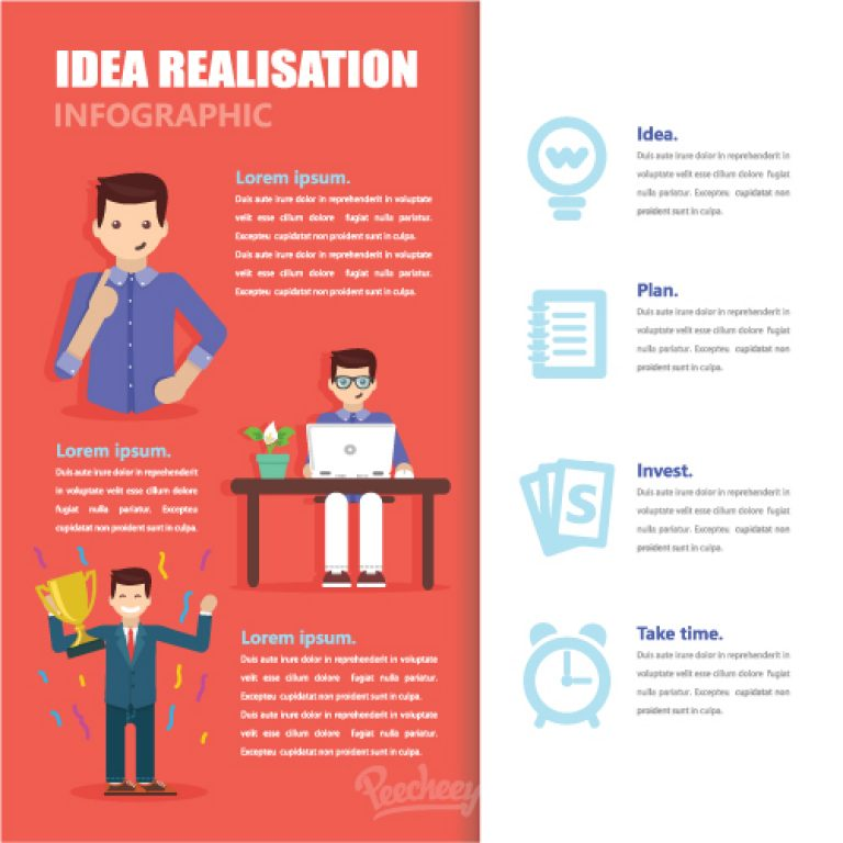 Ideas realization infographic | Peecheey