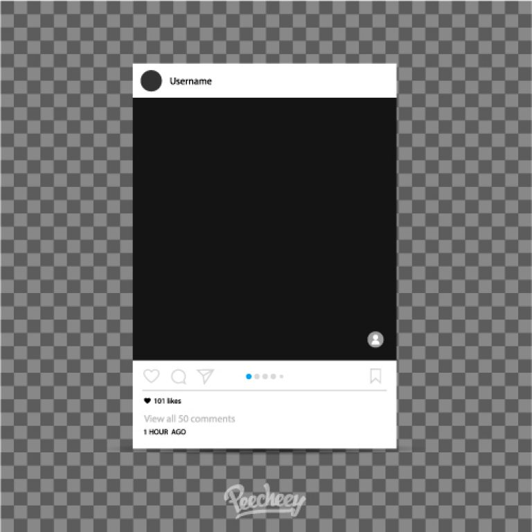 instagram photo frame template free vector